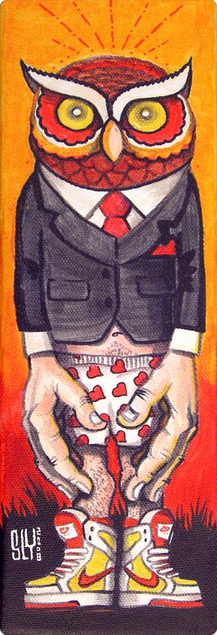 2008 01 00 Painting Owlman 10x30