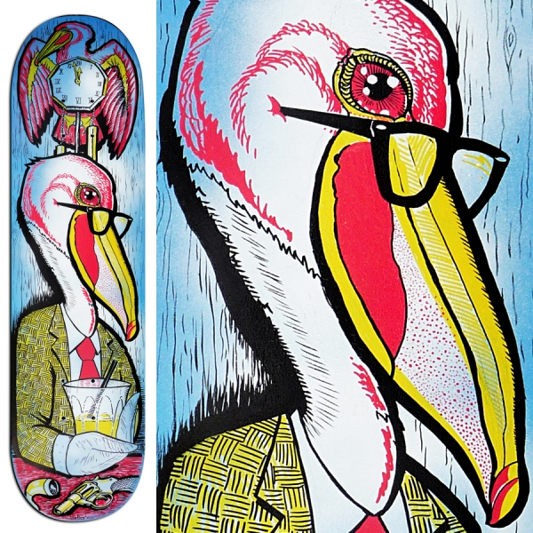 2009 04 00 Painted Skateboard Deck 01