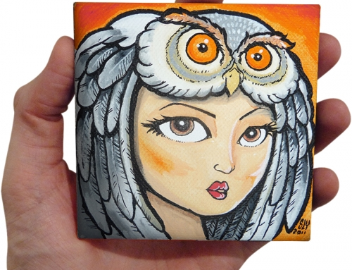 'Owl Hat' painting (2011)