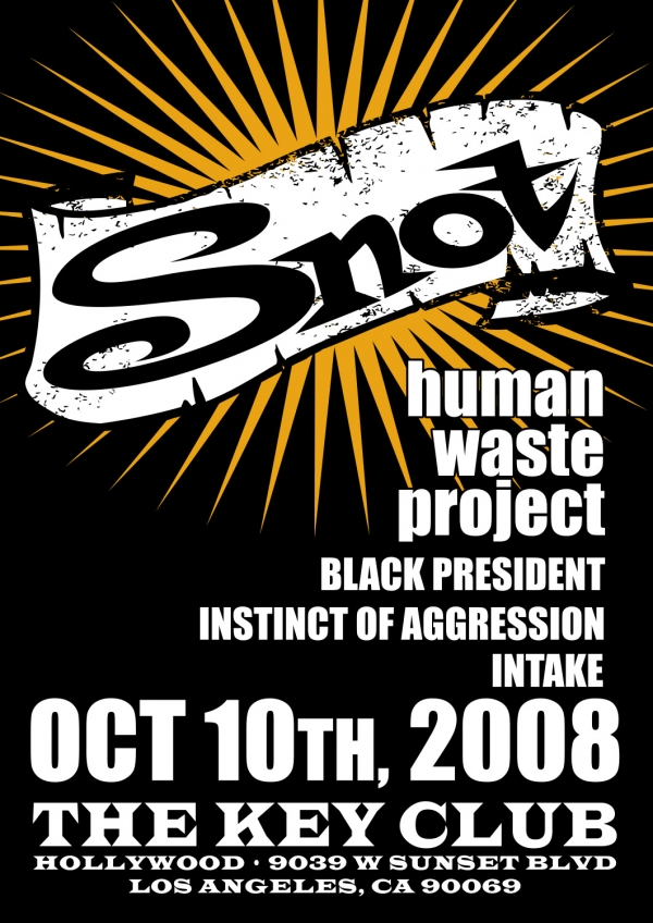 2008 10 10 Snot Show Poster Key Club