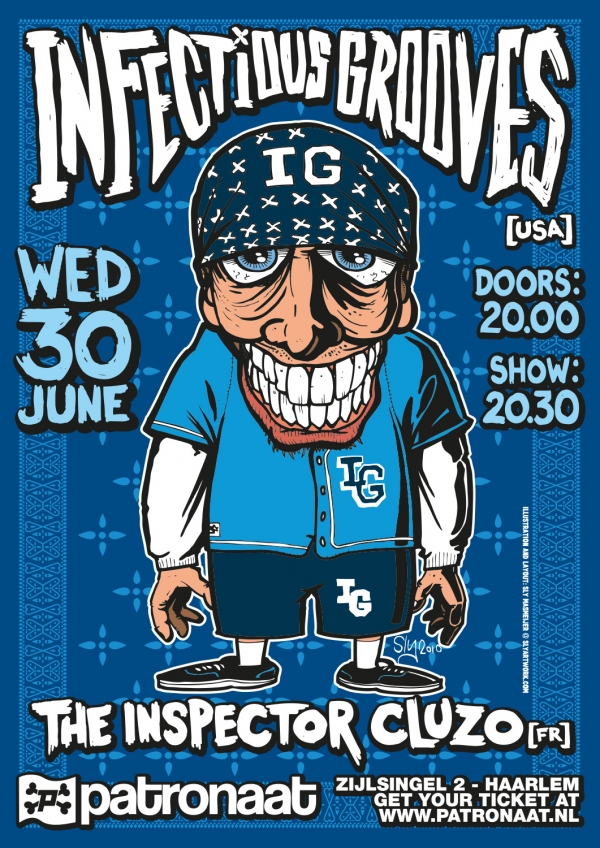 2011 06 30 Patronaat Infectious Grooves Poster