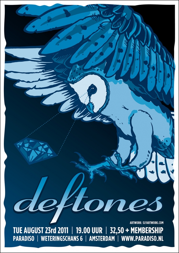 2011 08 23 Deftones Paradiso Poster