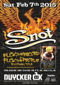 2015 02 07 Snot Show Poster Neth