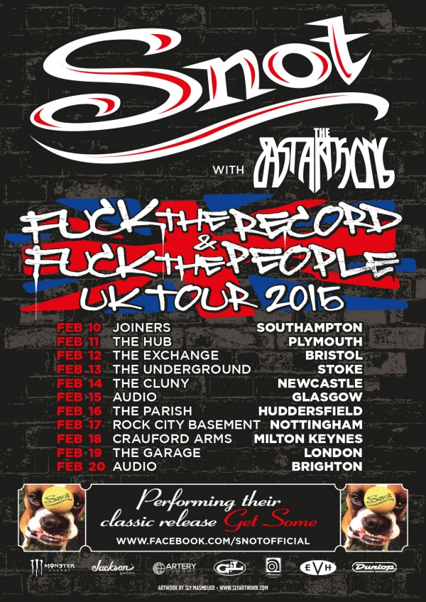 2015 02 10 Snot Tour Poster UK
