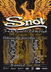 2015 02 10 Snot UK-Euro Tour Poster