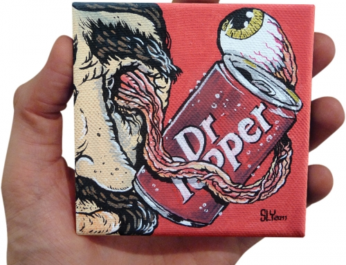 'Eye Loves Dr Pepper' painting (2011)