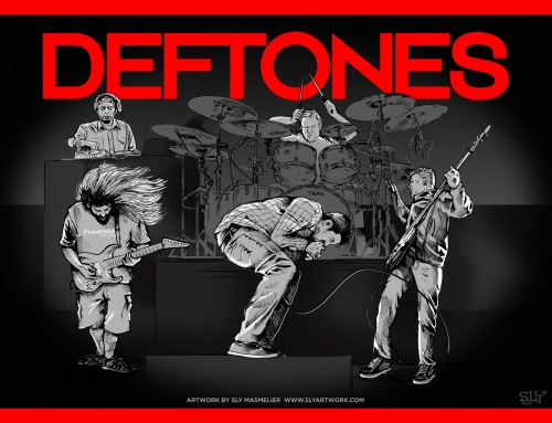 Deftones band illustrations