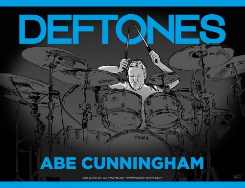 Deftones band illustrations – Abe Cunningham (2015)