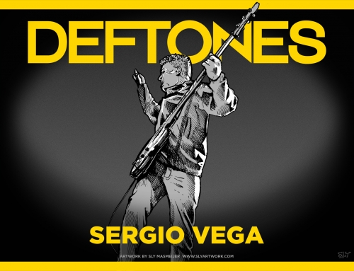 Deftones band illustrations – Sergio Vega (2015)