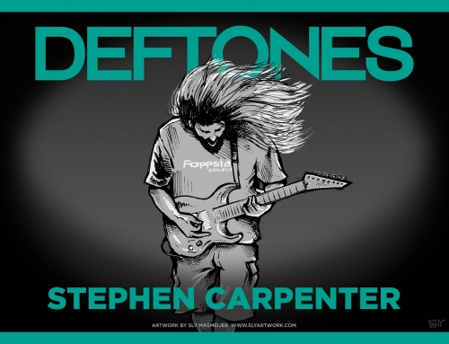 Deftones band illustrations – Stephen Carpenter (2015)