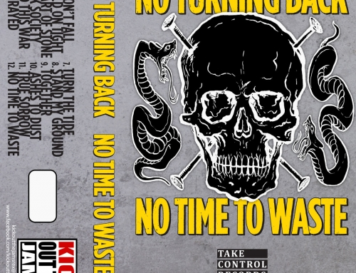T-SHIRT No Turning Back 'No Time To Waste' Cassette (2017)