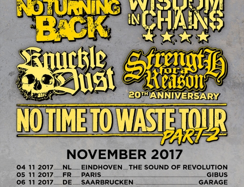 Tour poster No Turning Back – No Time To Waste Tour – part 2 (2017)