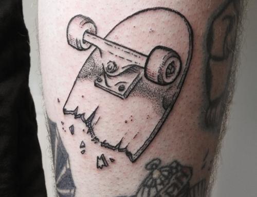 Tattoo Broken Skateboard