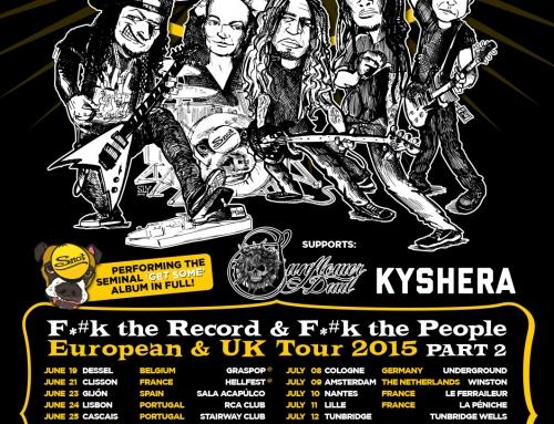 Tour flyer & poster Snot – UK-European tour Part 2 (2015)