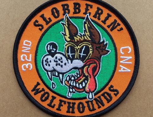 Slobberin' Wolfhounds 32nd TFS / FS CNA Patch (2019)